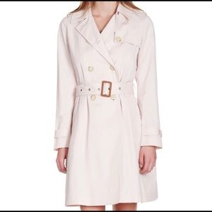 Joie S Roussanne Soft Sand Pink Belted Trench